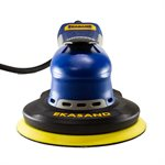 Ekasand E-Series 6 Inch Machine - Central Vacuum Hook Face - Low Profile - 3 / 16 Orbit