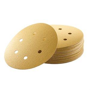 """Sanding Disc 6"""" x 6 Hole Grit #80 EKASTORM Hook & Loop"""