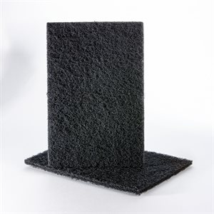 Hand Pad 6 x 9 Uneelon Silicon Carbide Black (Medium)