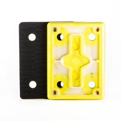 Ekasand Backup Pad 3 x 4 Hook Face Screw On - 4-hole-Straight Edge - J-Hook