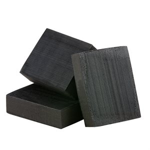 Combo Sanding Block 3 x 4 Easy Release Edge - Firm Black Foam