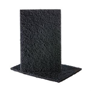 Hand Pad 6 x 9 Uneelon Silicon Carbide Black (Medium)